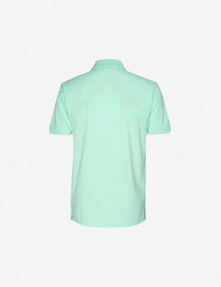BOSS Logo-embroidered cotton-pique polo shirt
