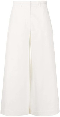 L'Autre Chose Wide Leg Cropped Trousers