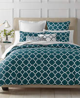 Charter Club Damask Designs Geometric Peacock 3-Pc. Full/Queen Duvet Set, Created for Macy's