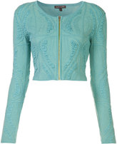 Sophie Theallet cropped zip jacket - women - Silk/Polyamide/Polyester - M