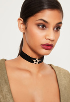 Missguided Black Diamante Star Choker Necklace