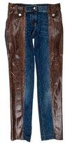 Dolce & Gabbana Python-Trimmed Straight-Leg Jeans