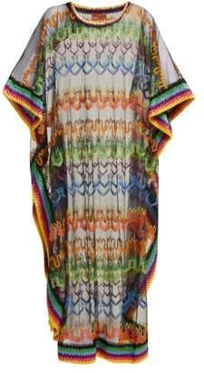 Missoni Mare - Embroidered Mesh Kaftan - Womens - Black Multi