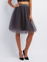 Charlotte Russe Tulle Full Midi Skirt