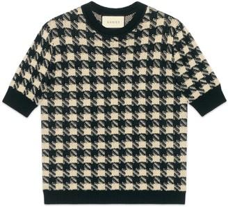 Gucci Houndstooth short sleeve jumper