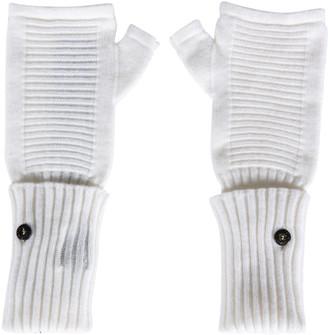 Stone Island Shadow Project Rib Knit Fingerless Gloves