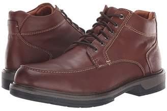 Johnston & Murphy Waterproof Rutledge Moc Toe Boot (Tan Waterproof Tumbled Full Grain) Men's Lace-up Boots