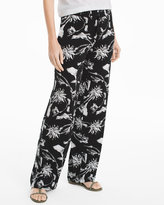 White House Black Market Floral Wide-Leg Pants