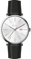 Paul Smith P10084 track stainless steel and leather watch