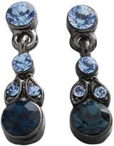 Jet Blue Simulated Crystal Drop Earrings