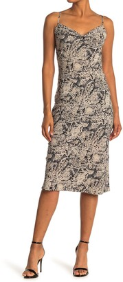 Love Stitch Snake Print Slip Dress
