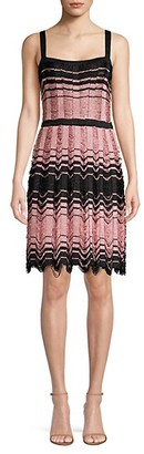 M Missoni Wavy-Knit A-Line Dress