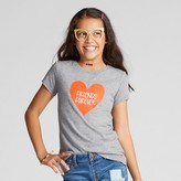 Cat & Jack Girls' Short Sleeve Friends Forever Graphic T-Shirt - Cat & Jack Heather Gray