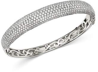 Bloomingdale's Pavé Diamond Bangle in 14K White Gold, 5.0 ct. t.w. - 100% Exclusive