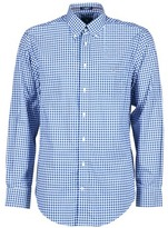 Gant THE POPLIN GINGHAM MARINE / White