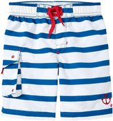 Hatley Nautical Stripe Board Shorts (Toddler/Kid) - White - 4T
