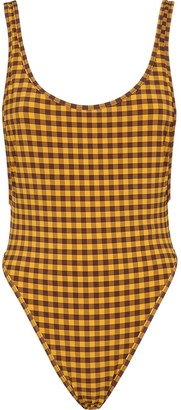 Fendi Vichy-check print swimsuit