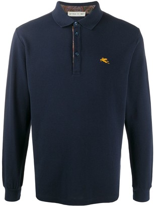 Etro Longsleeved Cotton Polo Shirt