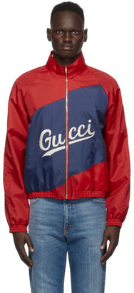 Gucci Red Nylon Logo Jacket