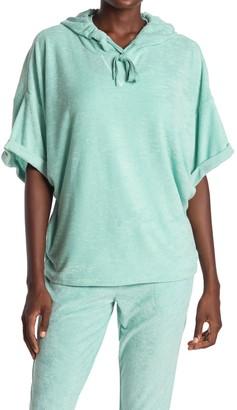PJ Salvage Terry Knit Short Sleeve Beach Hoodie