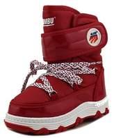Khombu Lil Ski Team Youth Round Toe Canvas Red Snow Boot.