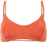 The Upside Audrey leopard-pattern bikini top