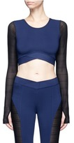 Ivy Park Linear mesh sleeve cropped performance top