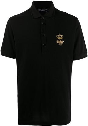 Dolce & Gabbana Logo Embroidered Polo Shirt