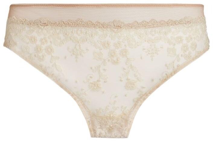 KATHERINE HAMILTON Abrielle Embroidered Lace Bikini Briefs