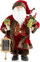 "Holiday Lane 18"" Wine Country Santa Figurine, Created for Macy's"