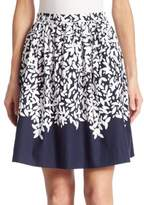 Oscar de la Renta Floral Printed Skirt