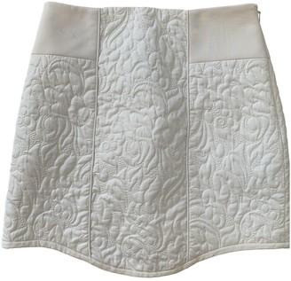 Tibi White Silk Skirt for Women
