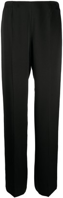 Chanel Pre Owned 2002 High-Waisted Straight-Leg Trousers