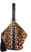 Thumbnail for your product : Rafe Kim Leopard Calf Hair Wrist Purse