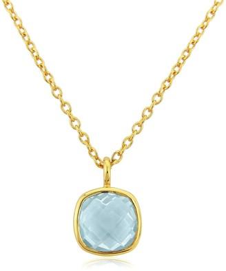 Auree Jewellery Brooklyn Gold Vermeil & Blue Topaz Necklace