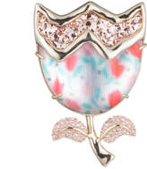 Alexis Bittar Abstract Tulip Glitter Pin