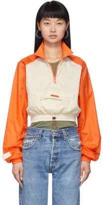 Heron Preston Beige and Orange Crop Windbreaker