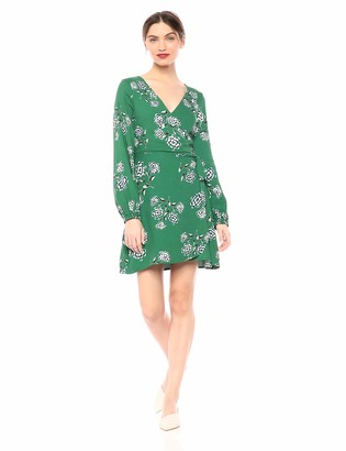 Cupcakes And Cashmere Women's Mystique Printed Rayon Faux wrap Dress