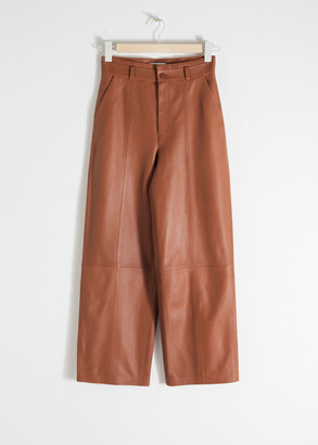And other stories High Waisted Leather Trousers