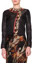 Etro Chinoiserie-Border Short Jacket, Black
