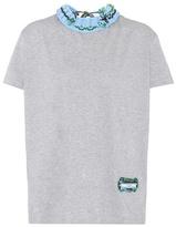 Prada Embellished cotton T-shirt