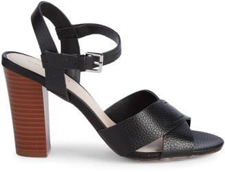 Tahari Peep Toe Stacked-Heel Slingback Sandals