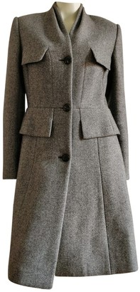 Christian Dior Grey Wool Coat for Women Vintage