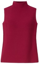 Thumbnail for your product : Lafayette 148 New York Ribbed Pointelle Mockneck Shell Top