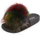Jeffrey Campbell Jova Pom Fur Slides