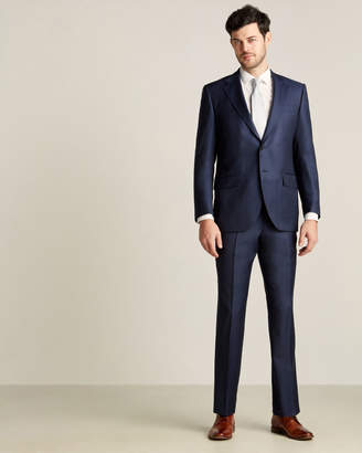 Luigi Bianchi Mantova Zegna Fabric Suits By Two-Piece Navy Tic Suit