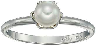 Majorica 6 mm Giselle Round Pearl Ring in Sterling Silver (White) Ring
