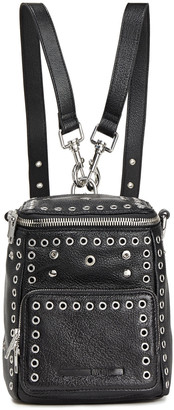 McQ Embellished Glossed Pebbled-leather Backpack