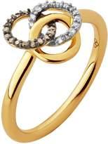 Links of London Treasured Champagne & White Diamond Ring