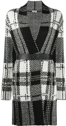 Liu Jo Plaid Longline Cardigan